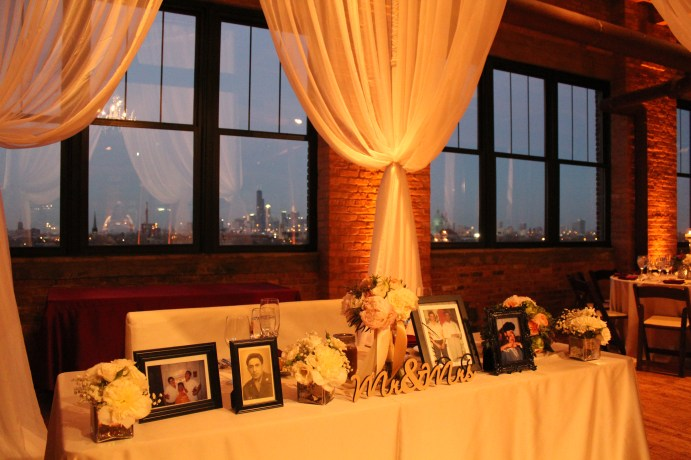Sweet Heart Table at Bridgeport Art Center Wedding