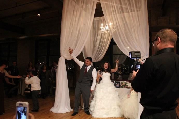 Toast at the Bridgeport Art Center Wedding