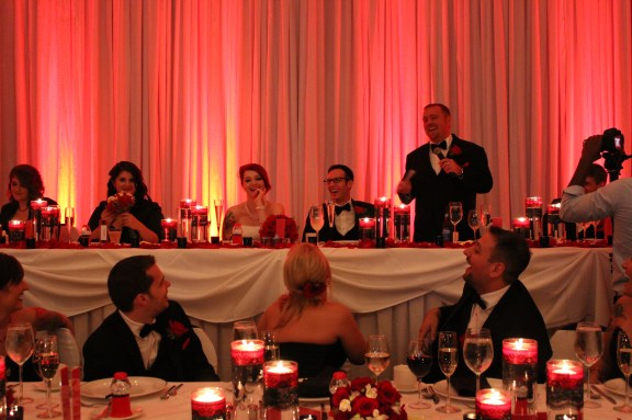 Toasts at Belvedere Banquets with 50's Theme