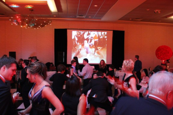 50's Theme Projector Screen at Belvedere Banquets Wedding