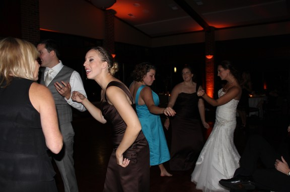 Bride on the dance floor at the Cantigny Park Wedding