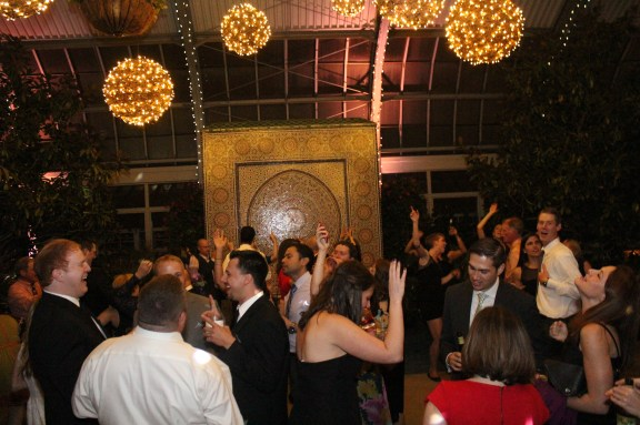 Dance Floor at the Garfield Park Conservatory Wedding