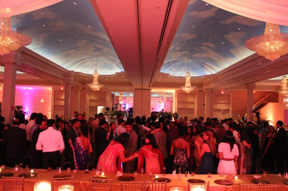 sky ceilings at the Ashyana Banquets Wedding
