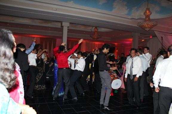 Dhol player at the Ashyana Banquets Wedding