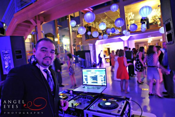 Architectural Artifacts wedding lighting and DJ