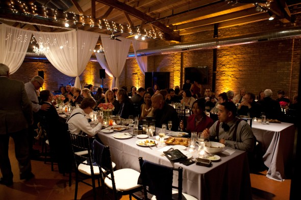 Loft on Lake Wedding Reception Lighting