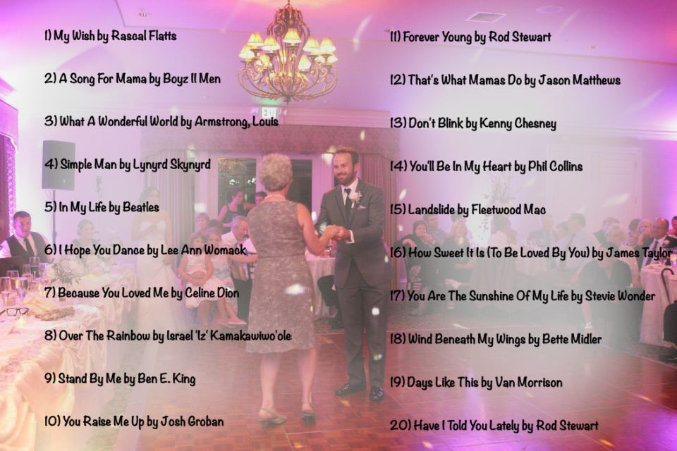 Top 20 Mother Son Dance Songs Of 2013