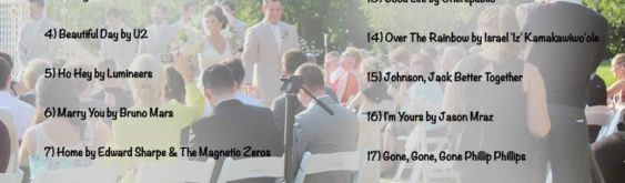 Creating the Sound Track for Your Wedding: Part Two, Wedding Music List