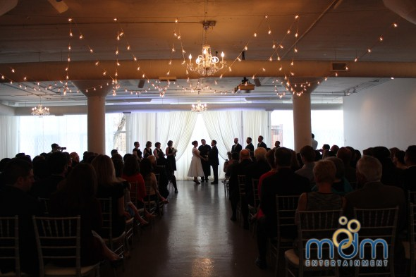 Saying I Do at Room 1520 Wedding