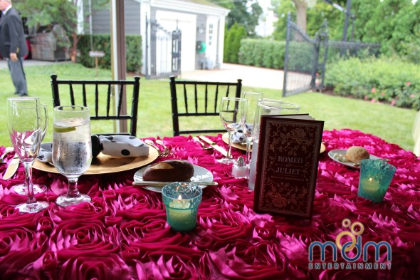 Sweetheart table at backyard Wedding