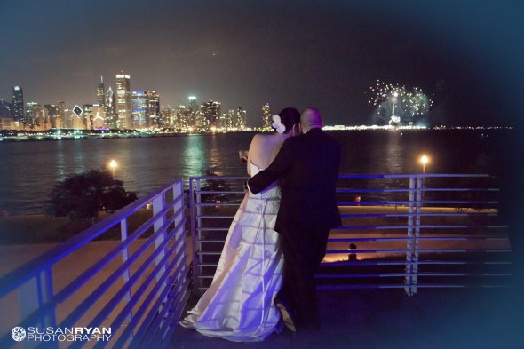 Kristen and Brian Create Fireworks at their Adler Wedding