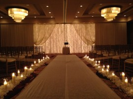 Aisle Candle Treatment