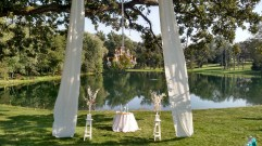 Chandelier for an Outdoor Wedding Ceremony
