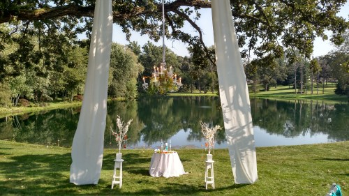 Chandelier for an Outdoor Wedding