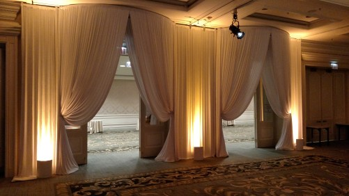 Entry Drape for a Wedding at Four Seasons Chicago