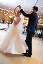 First Dance with String Lights at Art Institute Wedding