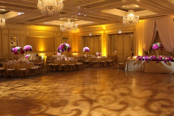 Four Seasons Chicago Wedding Lighting with Pattern Projection, Pinspots and Uplights