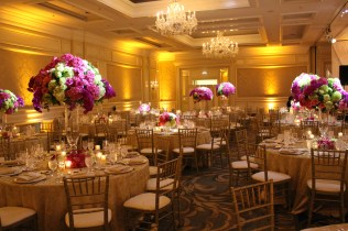 Four Seasons Chicago Wedding Lighting with Pinspots and Uplights
