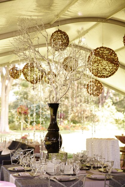 Grapevine Ball Chandeliers for a Rustic Chic Tent Wedding 3