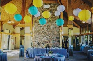 Hanging Lanterns at an Oak Brook Bath and Tennis Wedding