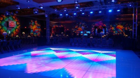 LED Dance Floor for a 70s Theme Party 2