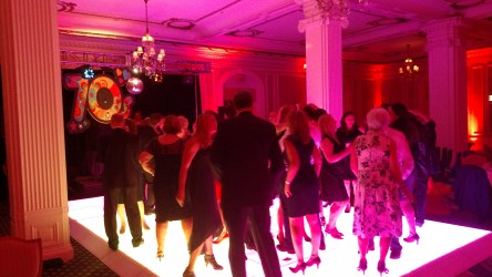 Light Up Dance Floor at a 70's Theme Party