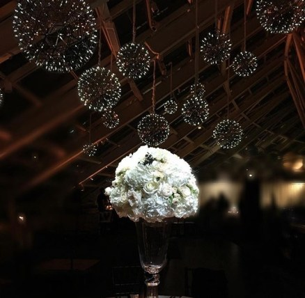 Pendant Wedding Chandeliers and Pin Spotting for an Adler Wedding 2