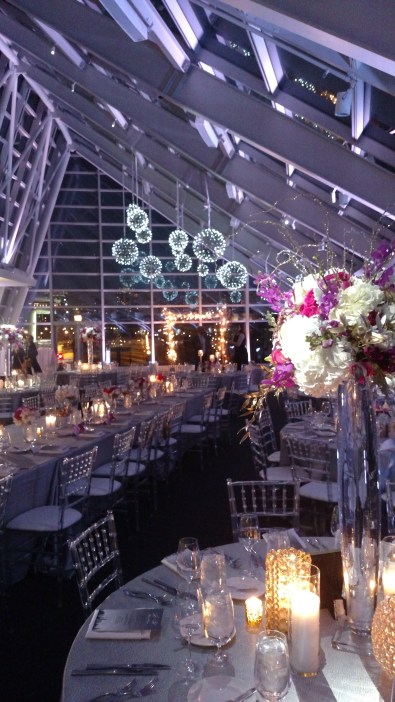 Silver Pendant Chandeliers and Pin Spots for an Adler Wedding