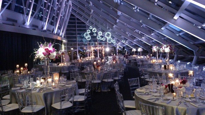 Silver pendant Chandeliers for an Adler Wedding