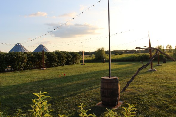 String Lights for a Rustic Wedding at Elawa Farms