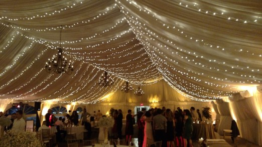 Twinkle Canopy Lighting for a Wedding at Stonegate