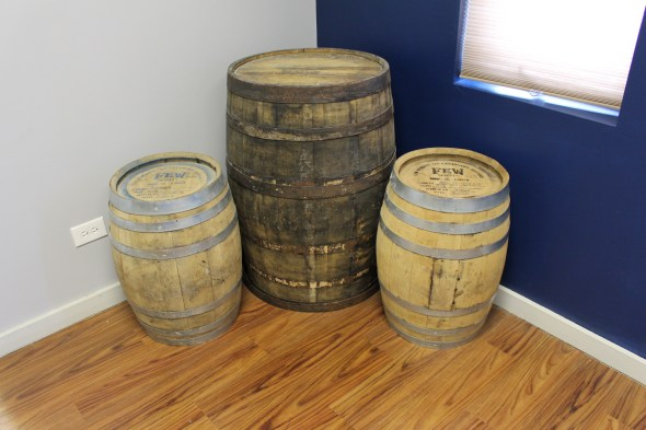 Whiskey and wine barrel rental