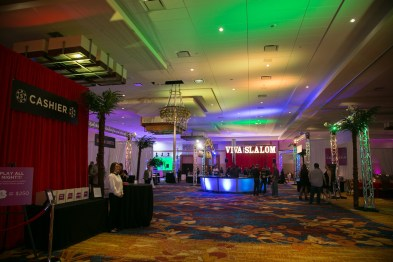 Lighting for a Vegas Strip Themed Corporate Event