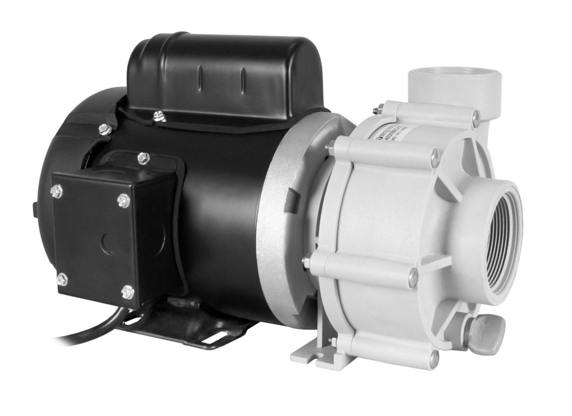 Sequence 750 Pump with black Marathon Motor right angle view