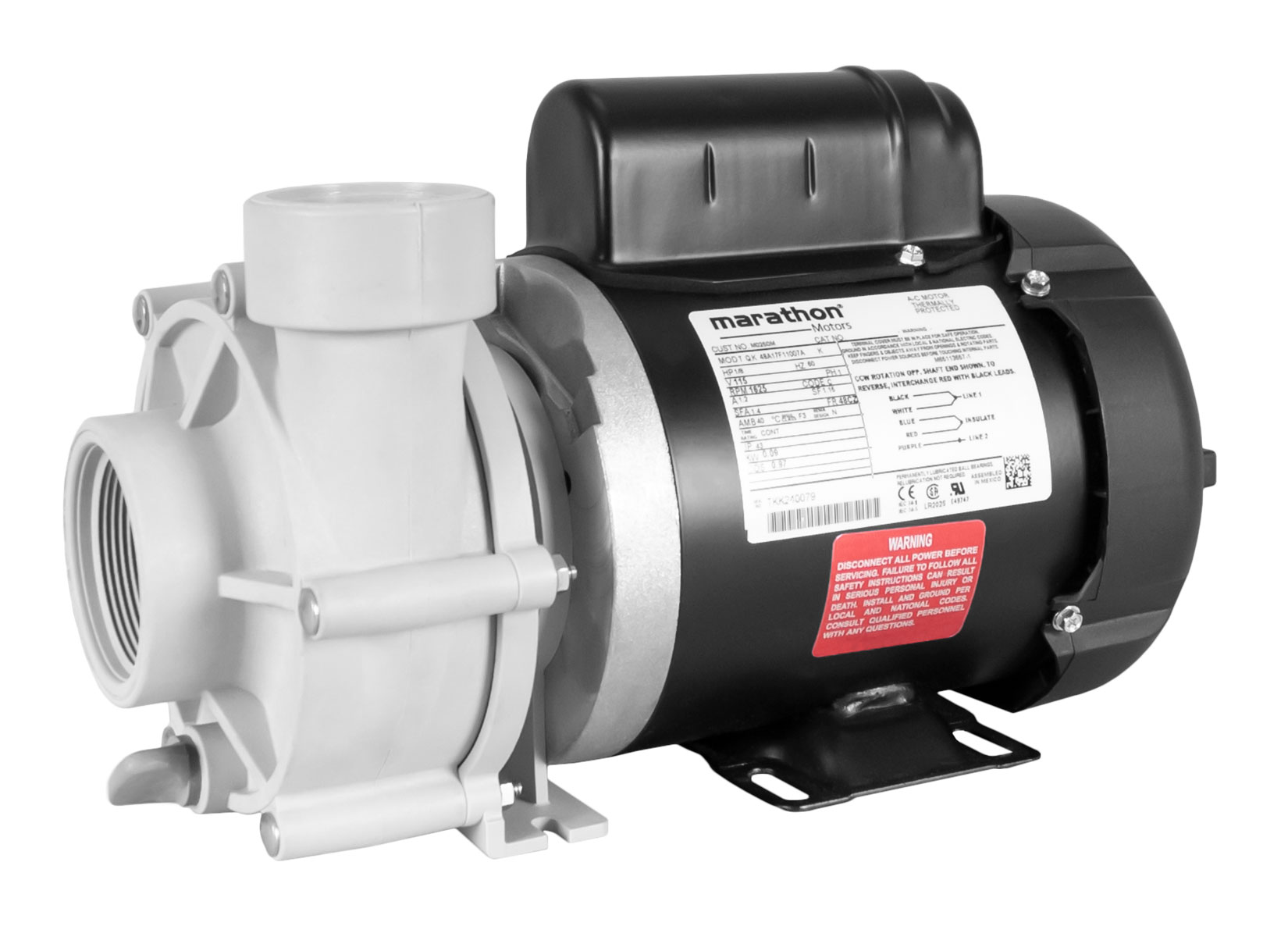 Sequence 750 Pump with black Marathon Motor left angle view