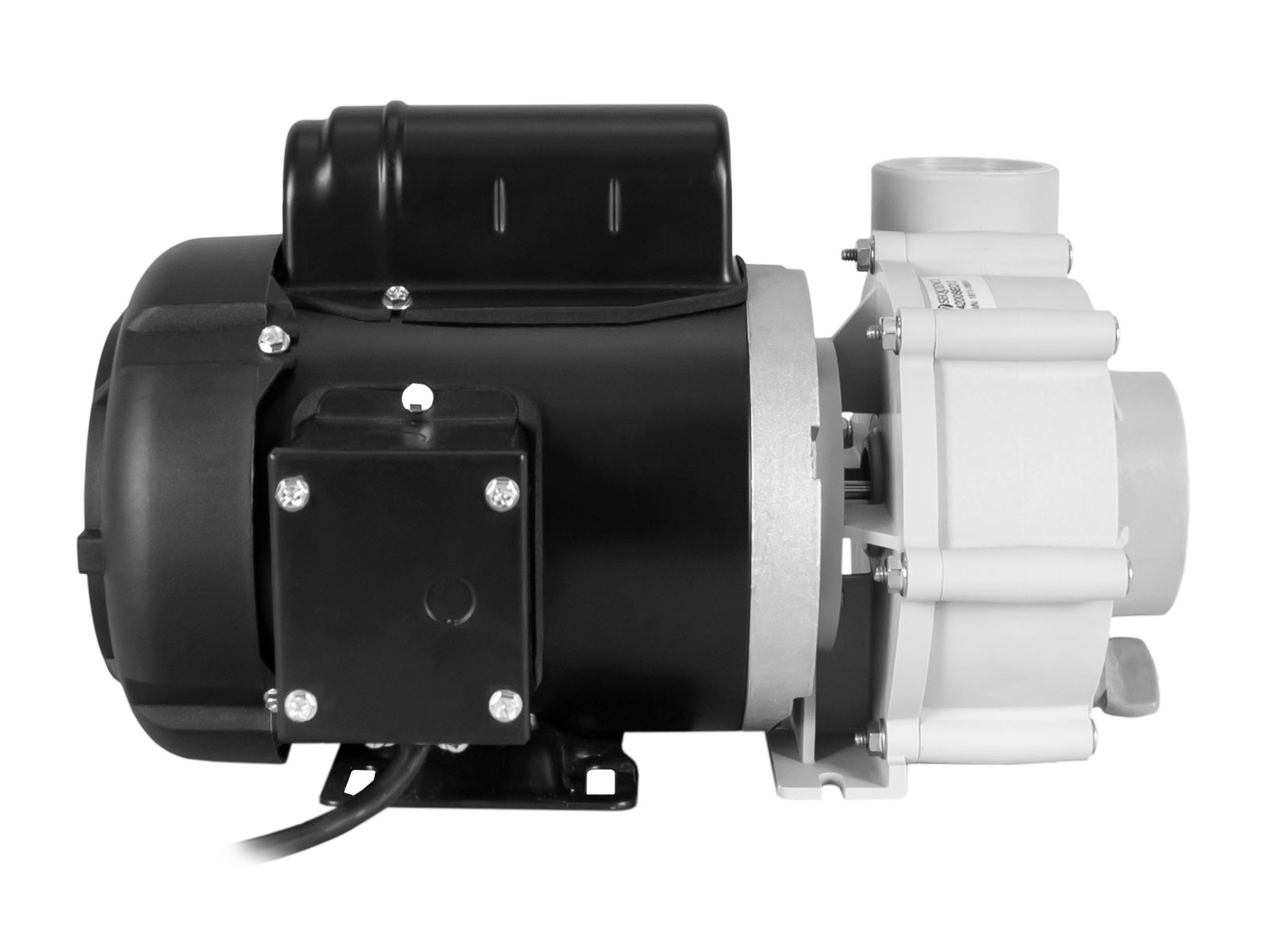 Sequence 750 Pump with black Marathon Motor left side view