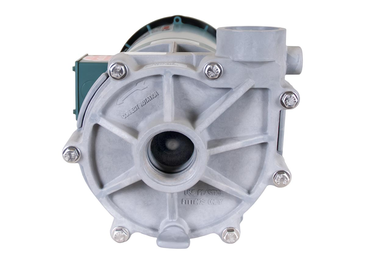 Advance 1000 Pump with green Leeson Motor front view