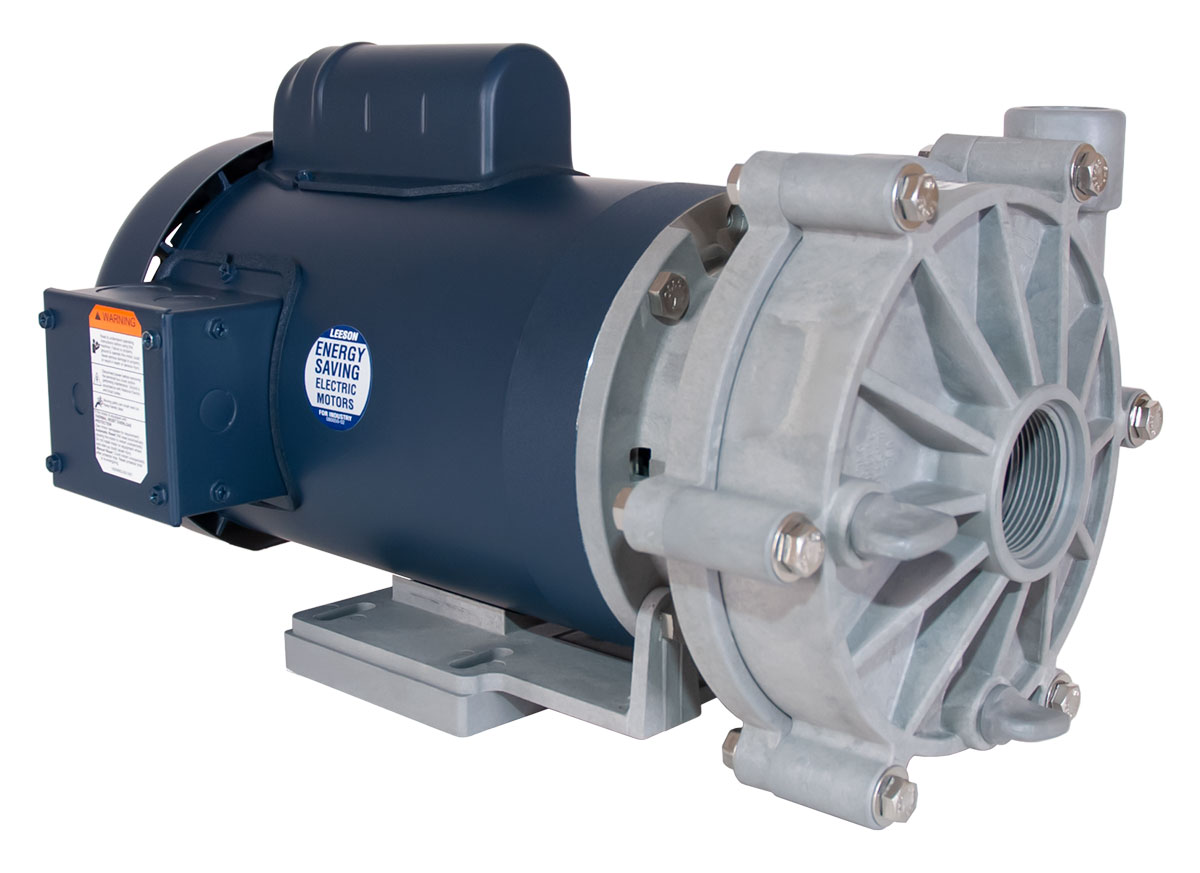 Advance 3000 Pump with blue Leeson Motor left angle view