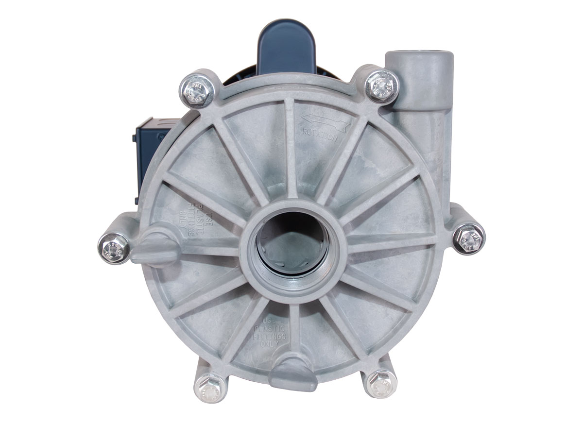 Advance 3000 Pump with blue Leeson Motor front view
