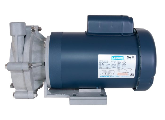 Advance 3000 Pump with blue Leeson Motor right side view