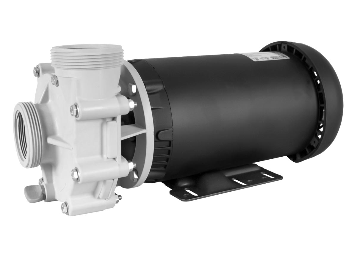 Advance 4000 Pump with black WEG Motor right angle view