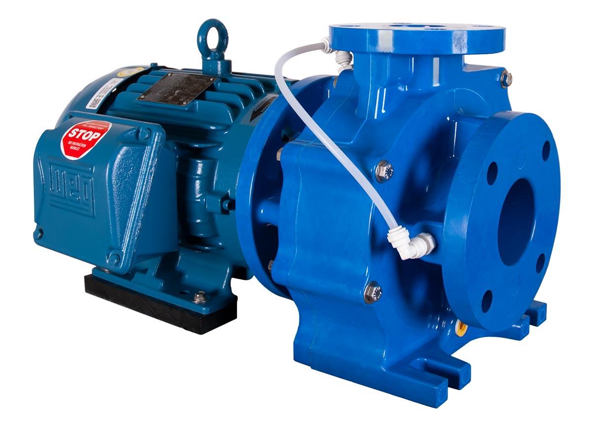 Genesys 3x2x6 with blue WEG Motor left angle view