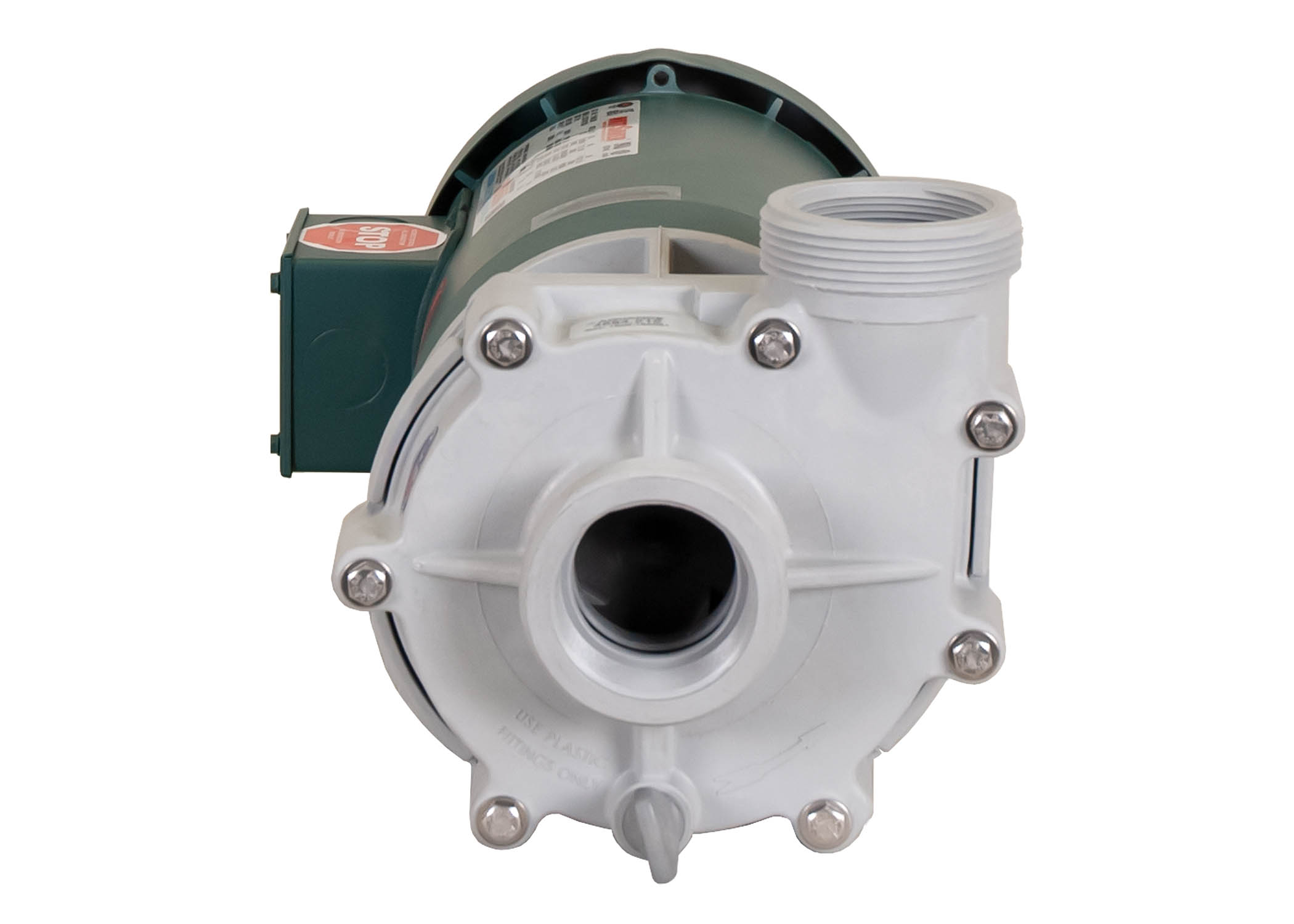 Advance 4000 Pump with green Leeson Motor front view