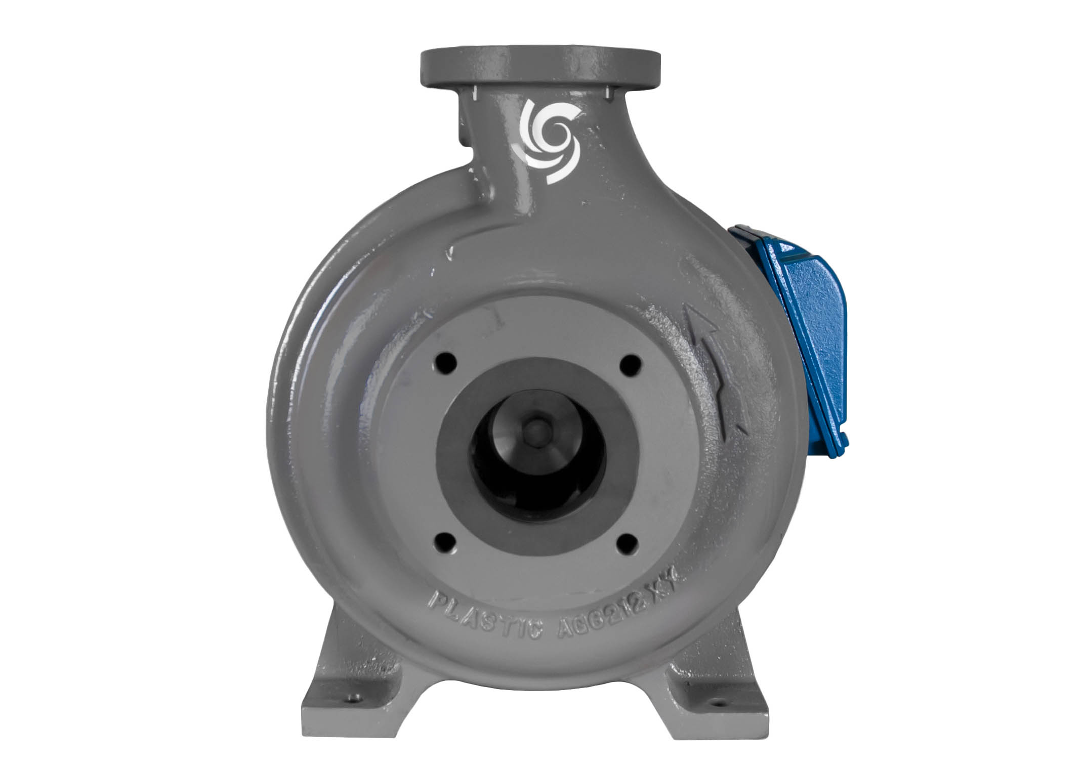 C-Shell 3x2-10 Pump with blue WEG Motor front view