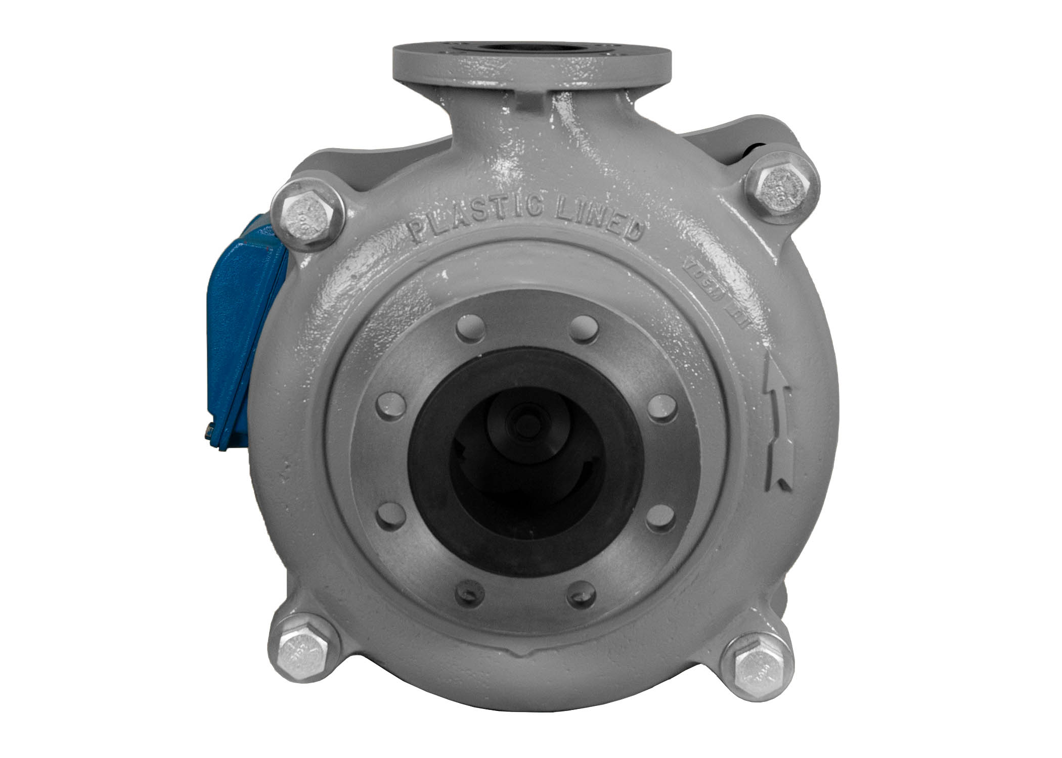 C-Shell 4x3-10 Pump with blue WEG Motor front view