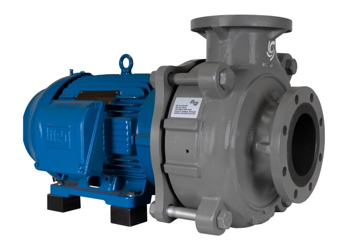 C-Shell 6x5-11 Pump with blue WEG Motor left angle view