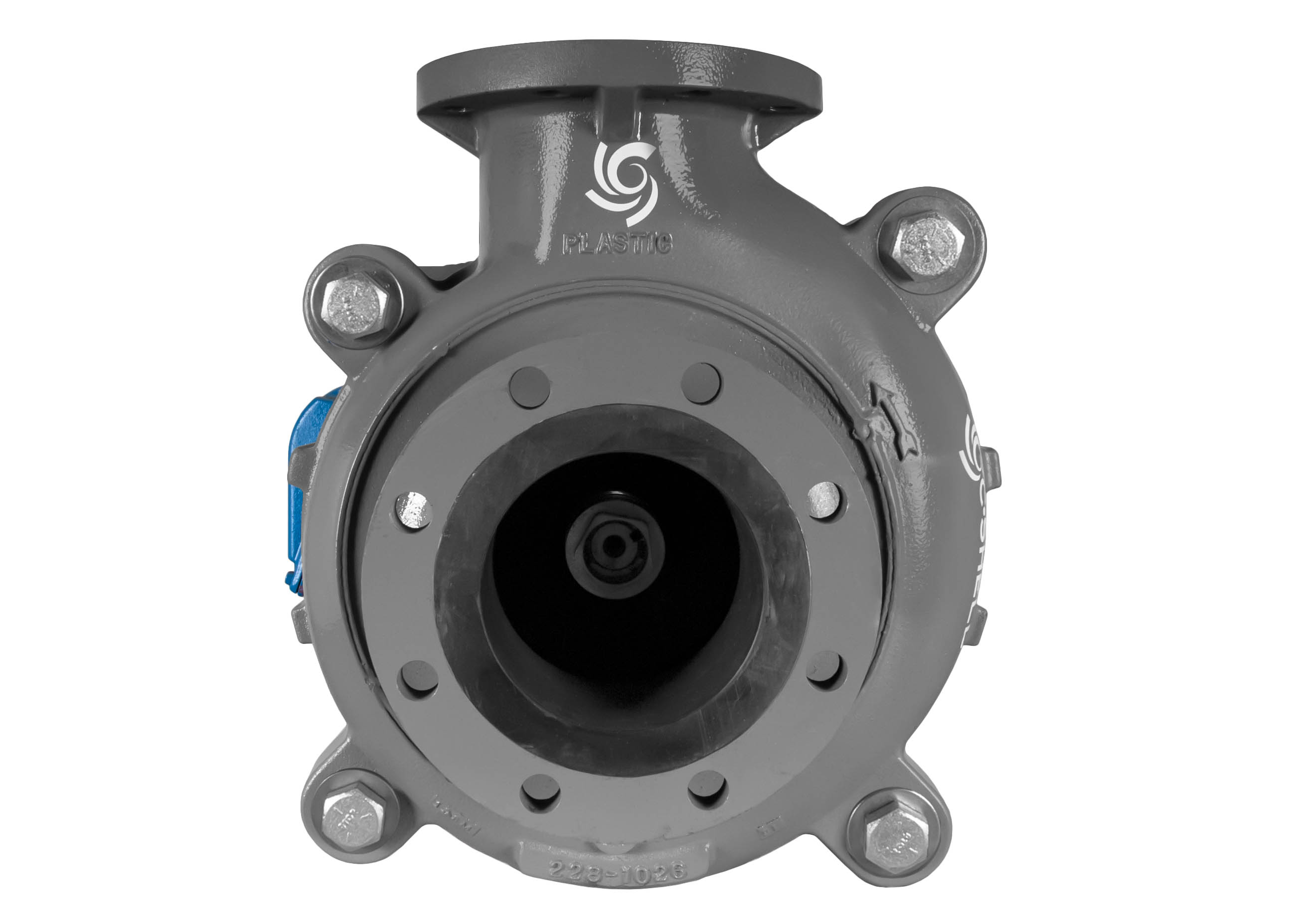 C-Shell 6x5-11 Pump with blue WEG Motor front view