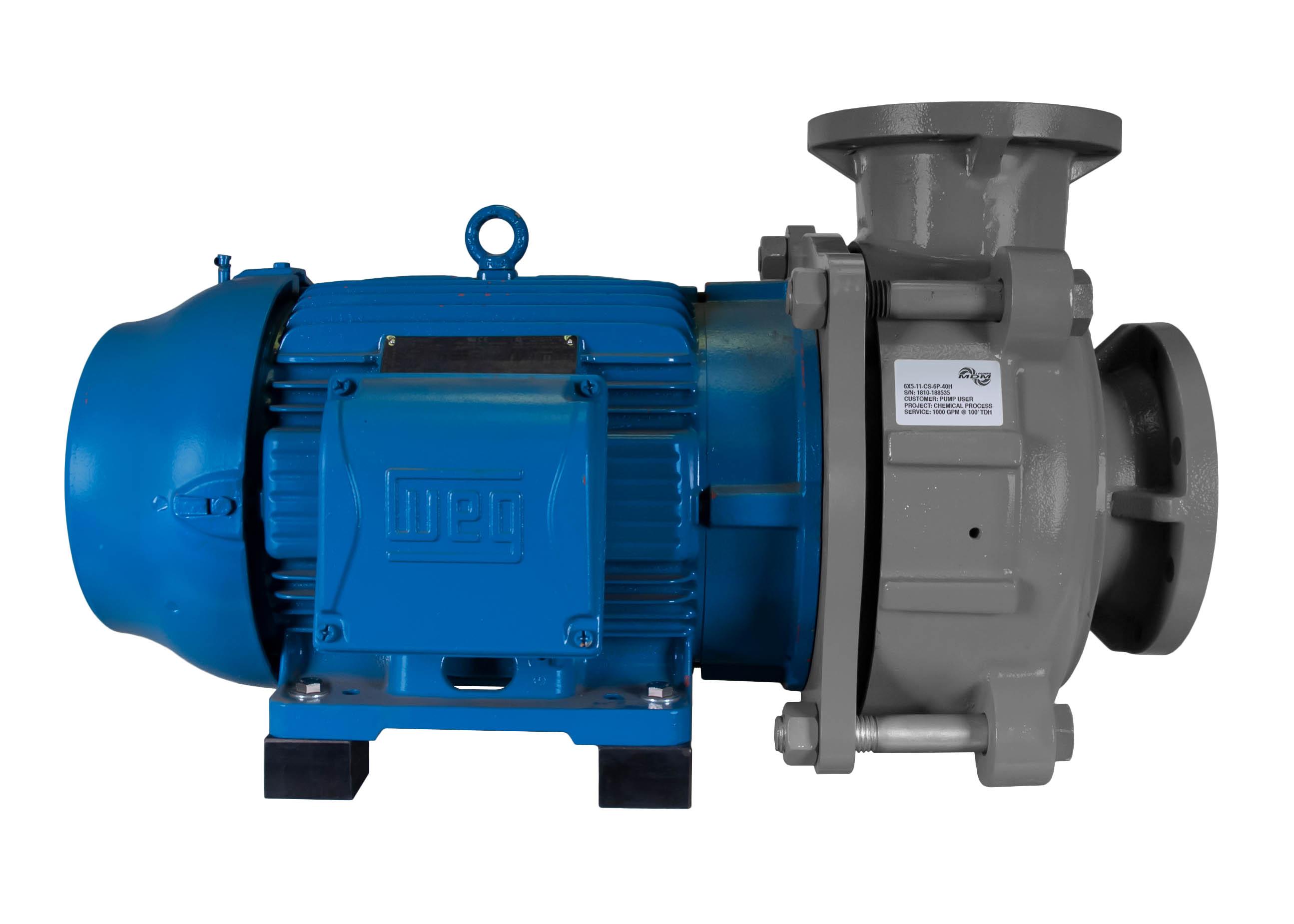 C-Shell 6x5-11 Pump with blue WEG Motor left side view