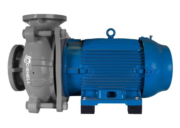 C-Shell 6x5-11 Pump with blue WEG Motor right side view