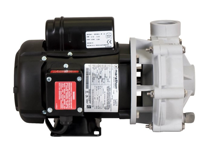 Sequence 1000 Pump with black Marathon Motor left side view